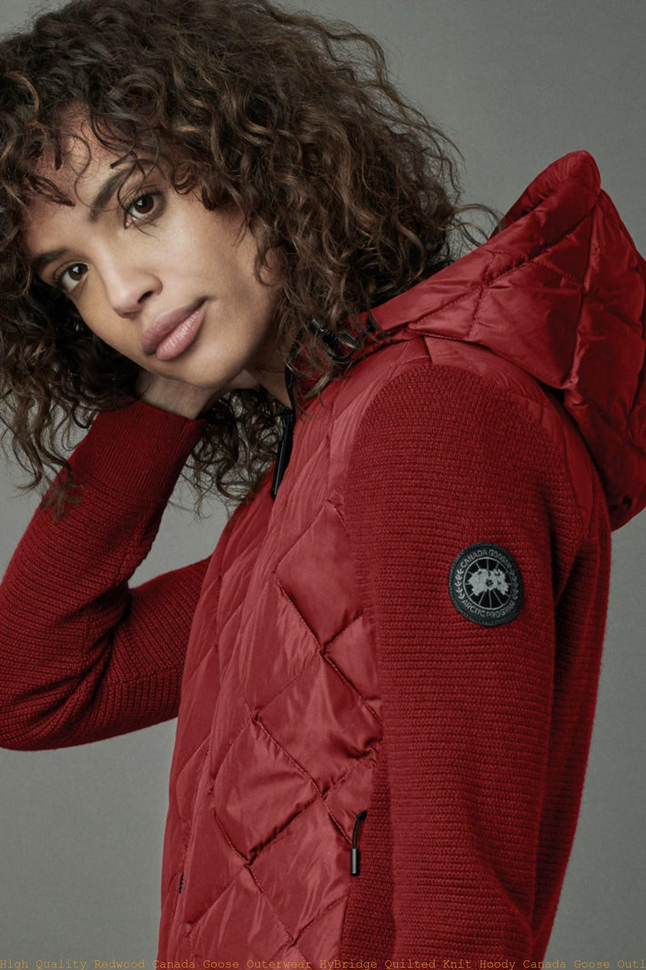c0d5c4e7f06c High Quality Redwood Canada Goose Outerwear HyBridge Quilted Knit Hoody Canada  Goose Outlet New York City 6900L
