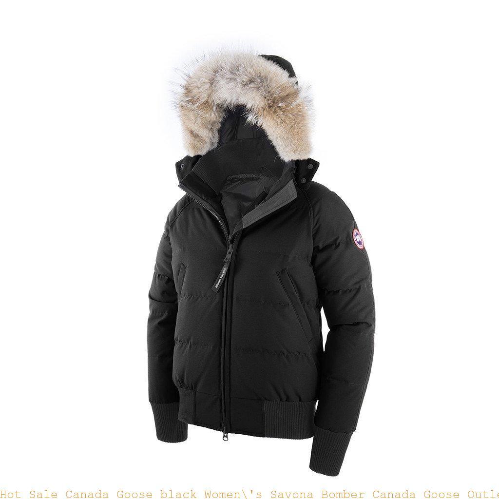 new arrivals dc25d 0af95 Hot Sale Canada Goose black Women\'s Savona Bomber Canada Goose Outlet  Store Usa 6605128261