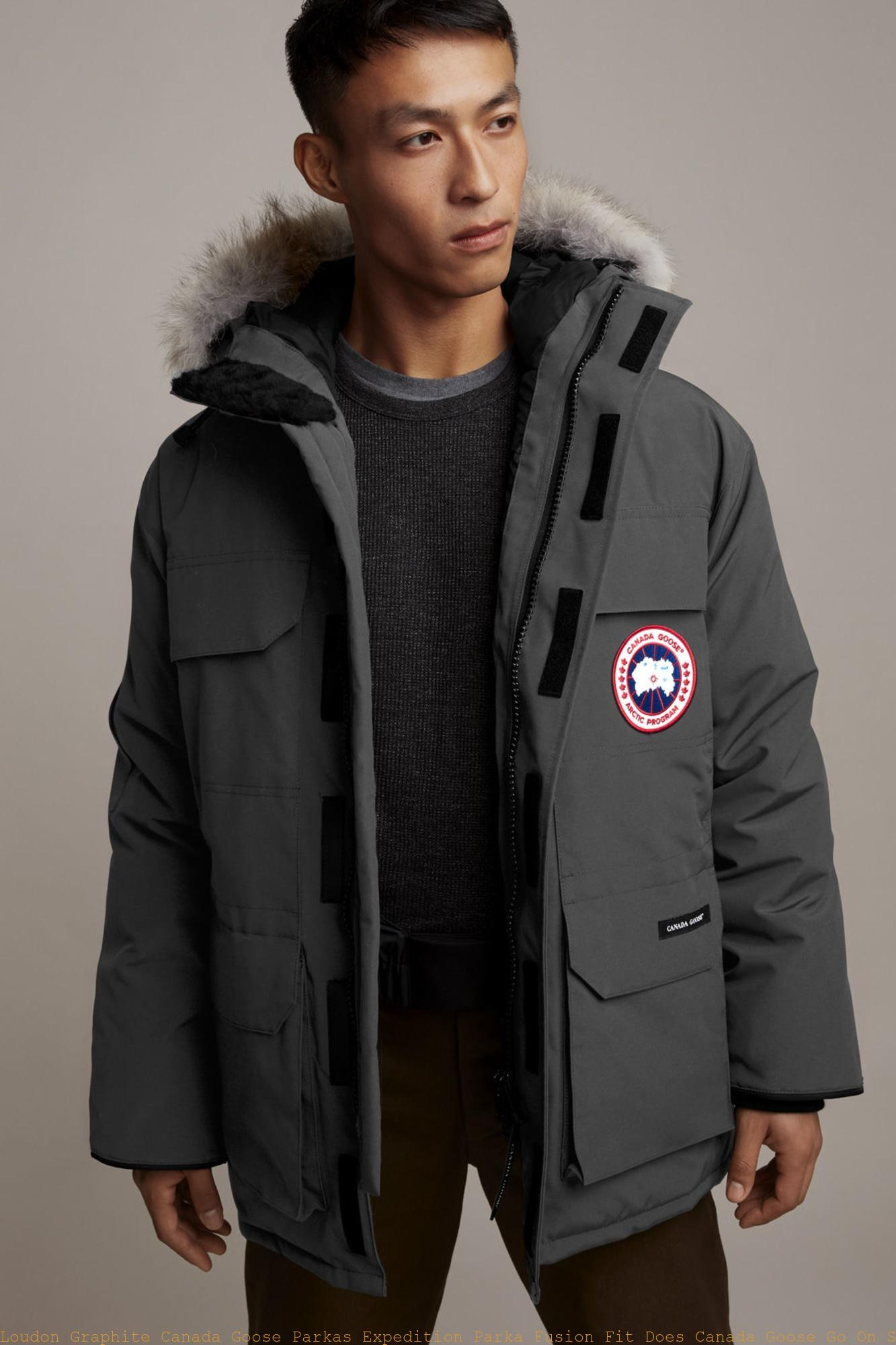 17c656781cb Loudon Graphite Canada Goose Parkas Expedition Parka Fusion Fit Does Canada  Goose Go On Sale Black Friday 4660MA