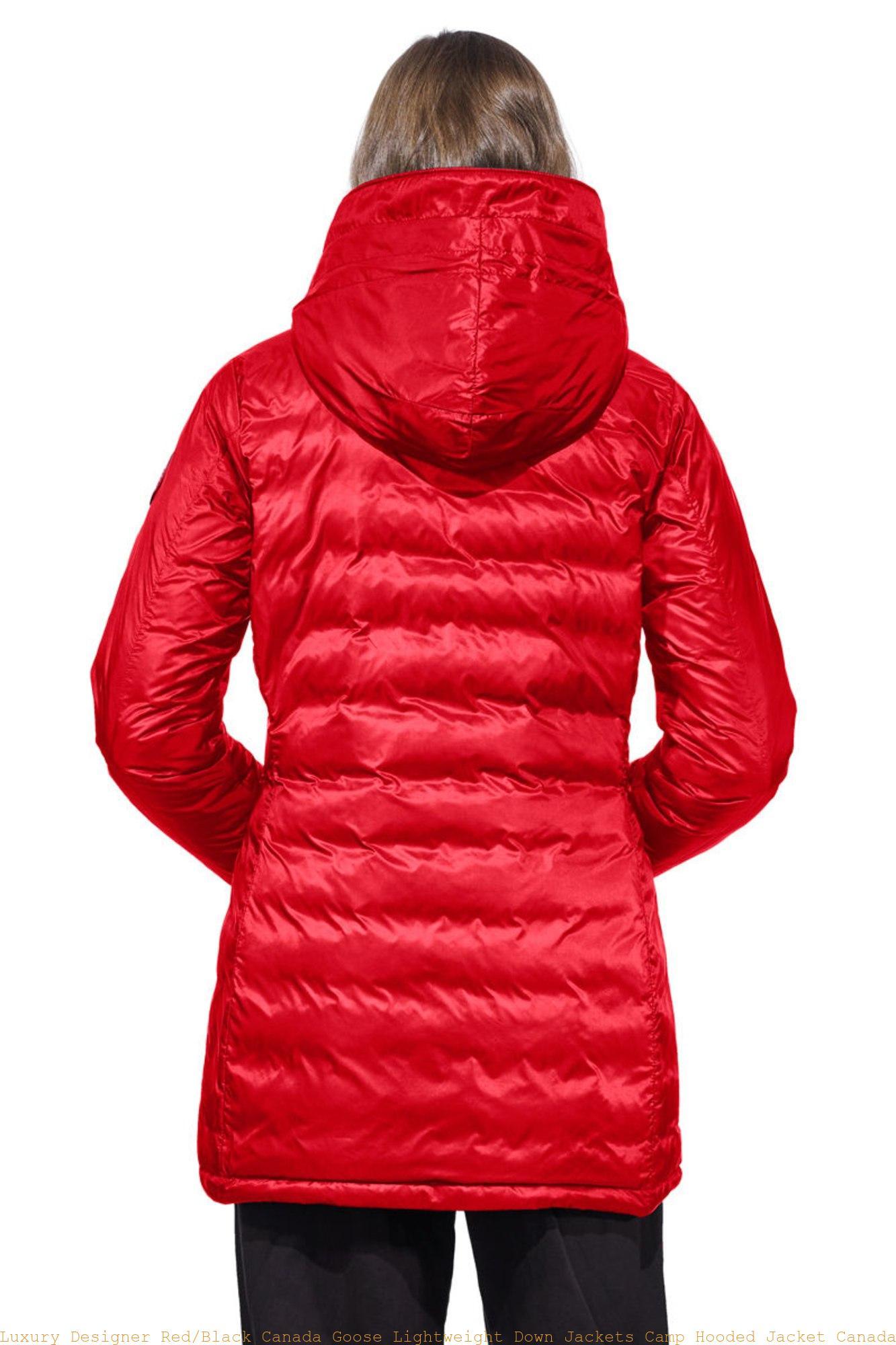 59969734b Luxury Designer Red/Black Canada Goose Lightweight Down Jackets Camp Hooded  Jacket Canada Goose Clothing Uk 5061L